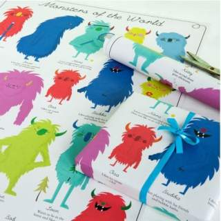 PAPIER CADEAU MONSTERS OF THE WORLD